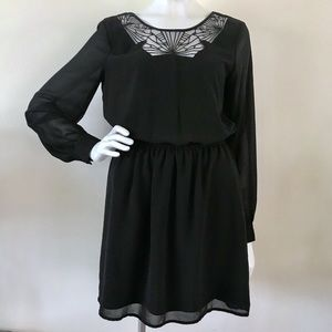 Pins and Needles Urban Outfitters goth black dress